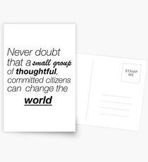 Never doubt Postcards
