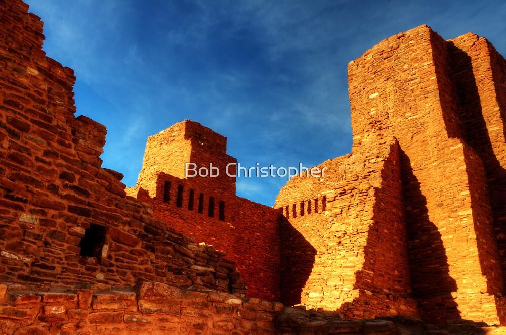 Salinas Pueblo Abo Mission Golden Light by Bob Christopher