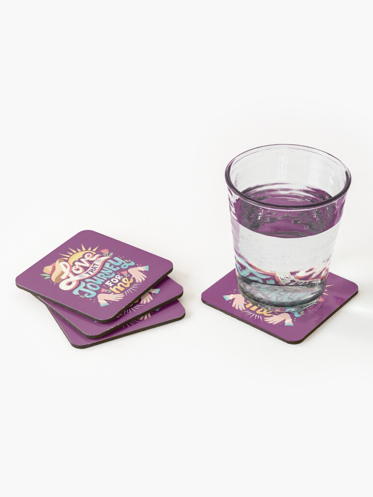 Alternate view of Love that journey for me Coasters (Set of 4)