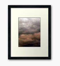 Trouble On The Way Framed Print