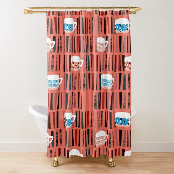 Grandma's coffee cups - a tea in the library? Shower Curtain