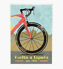 Lámina fotográfica Bicicleta Vuelta a España