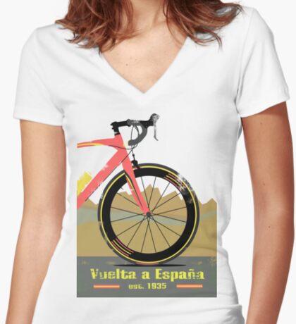 Vuelta a España Bike Women's Fitted V-Neck T-Shirt