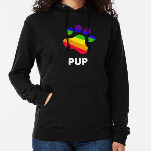 Rainbow Pup Paw Lightweight Hoodie