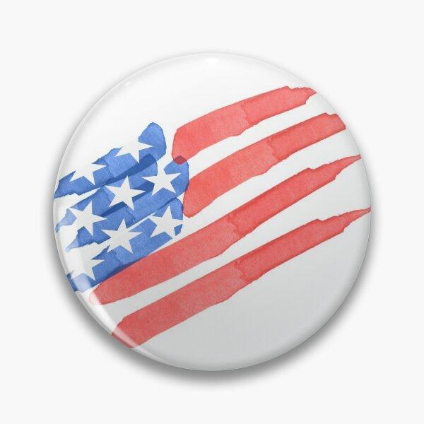 Watercolor American Flag Pin