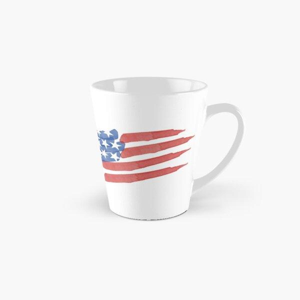 Watercolor American Flag Tall Mug