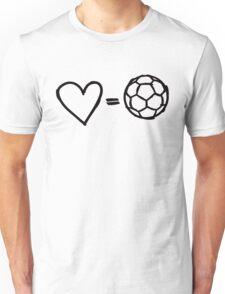 love equals football Unisex T-Shirt