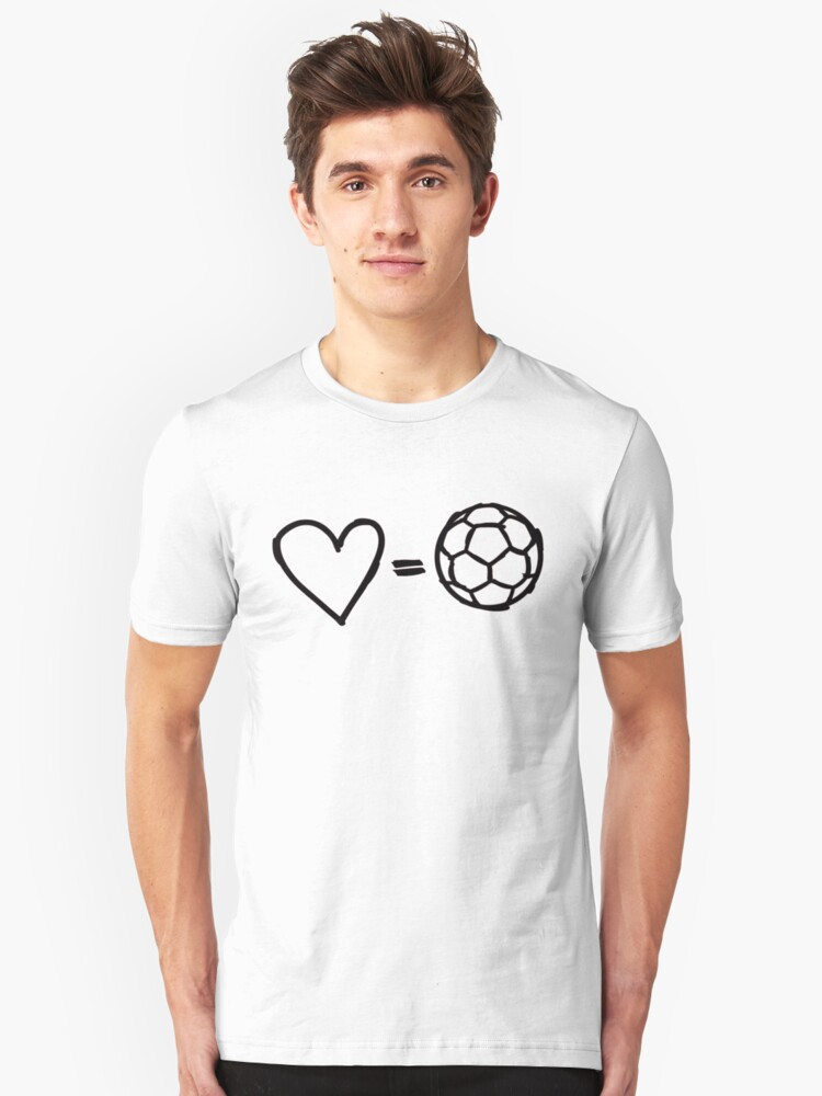 love equals football Unisex T-Shirt Front