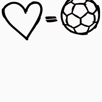 love equals football by cardiablo