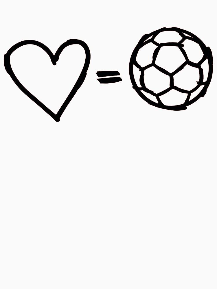 love equals football | Unisex T-Shirt