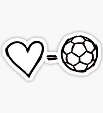 love equals football Sticker