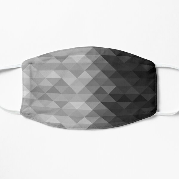 Grayscale triangle geometric squares pattern Mask