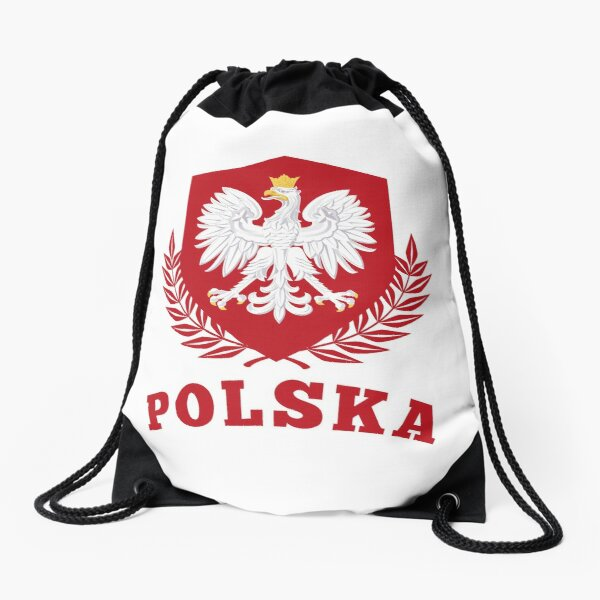 POLAND POLSKA POLAND  Drawstring Bag