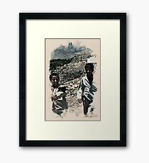 afgan boys wc2 Framed Print
