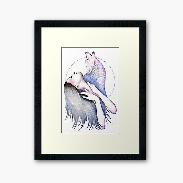 Wolf Woman Framed Art Print