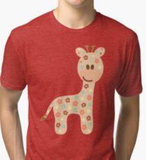Baby giraffe Tri-blend T-Shirt