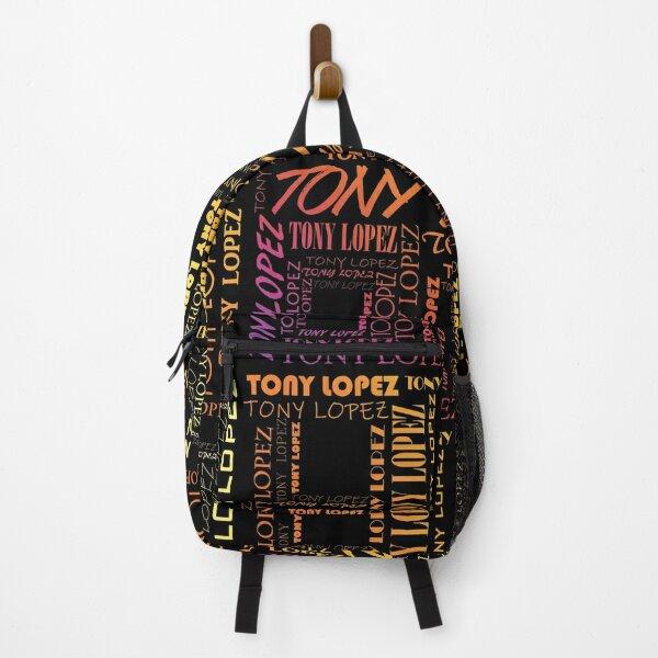 Tony Lopez Logo name pattern rainbow - Tiktok Lopez brothers | Hype House Backpack