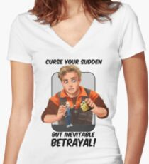 Wash - Fox's inevitable betrayal Women's Fitted V-Neck T-Shirt