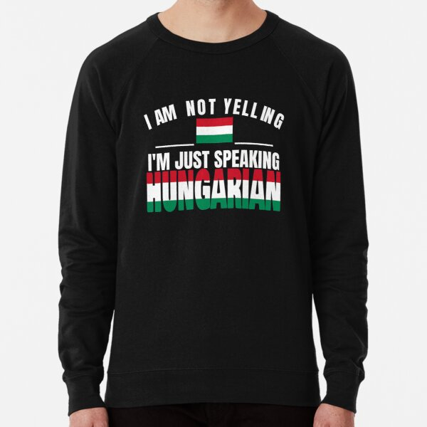I Love Heart Hungary Black Kids Sweatshirt