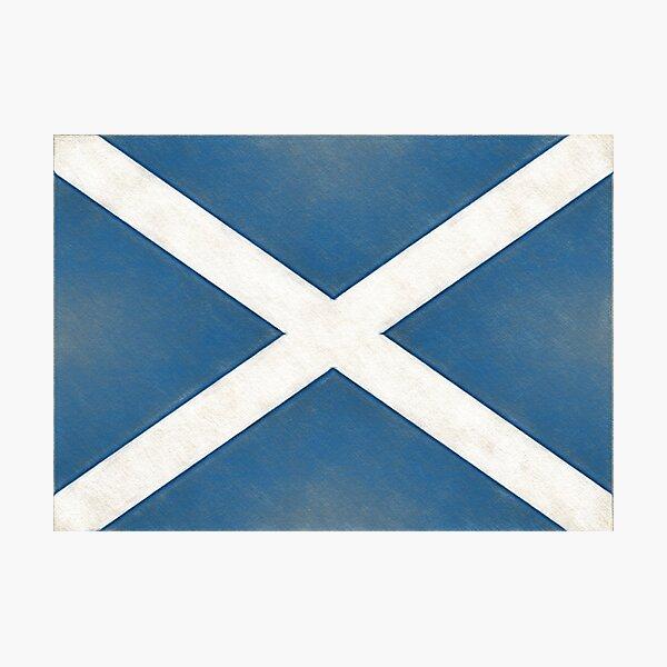 Scotland Flag Photographic Print
