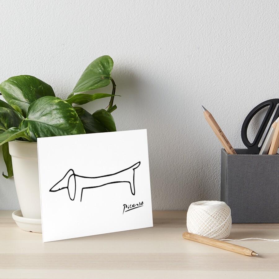 Pablo Picasso Dog (Lump) Artwork, Sketch Reproduction Art Board Print