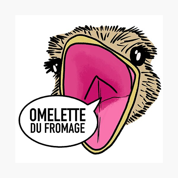 Omelette du fromage / Fumisteries Photographic Print