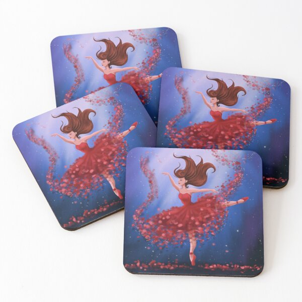 Tiny Red Dancer Coasters (Set of 4)