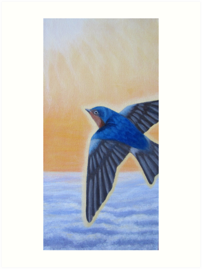 Swallow Ascending by KarenWoodArt