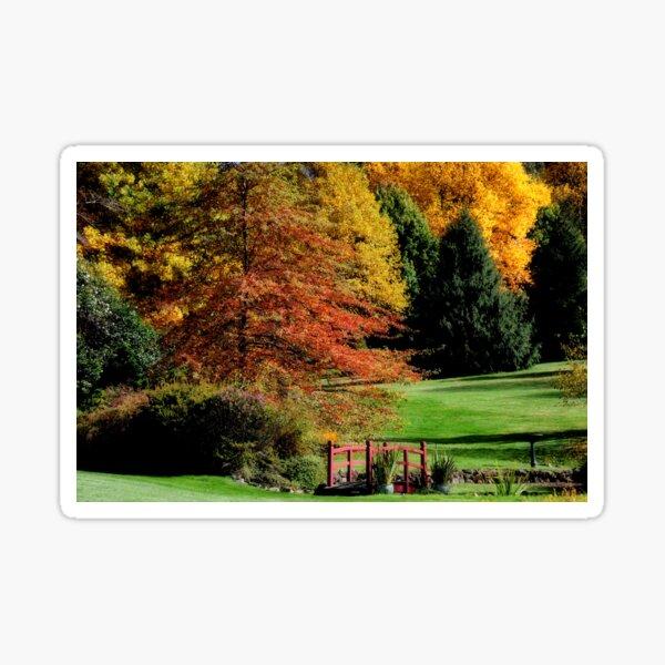 Glow of Autumn - Bisley Gardens, Mt Wilson NSW Sticker
