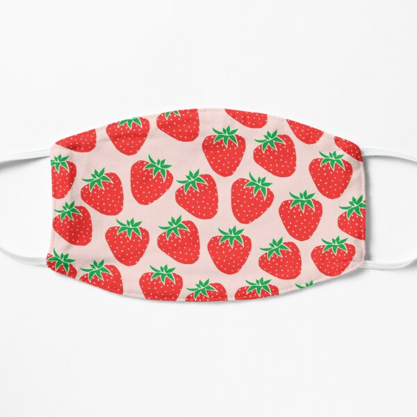 Cute Strawberry Flat Mask