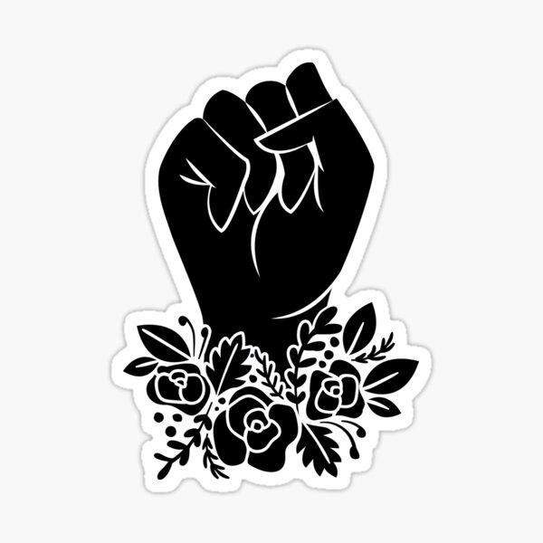 Floral Fist Sticker
