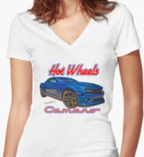 Hot Wheels Camaro T-Shirt is Fine Women's Fitted V-Neck T-Shirt