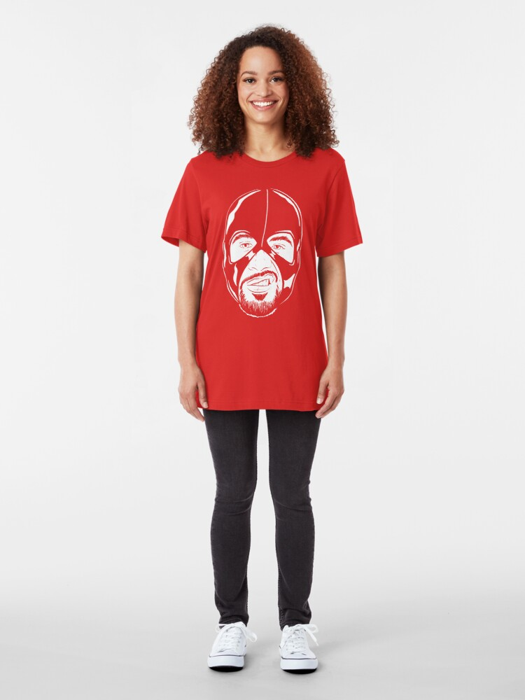 Alternate view of Facekini White lines Slim Fit T-Shirt