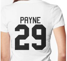 Liam Payne jersey (black text) Womens Fitted T-Shirt