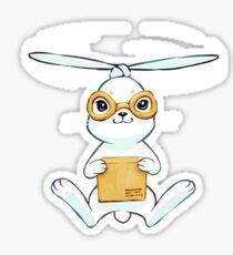 Postal Bunny Sticker