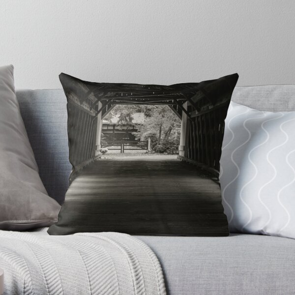 Uhlerstown Covered Bridge III Throw Pillow