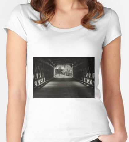 Uhlerstown Covered Bridge III Women's Fitted Scoop T-Shirt