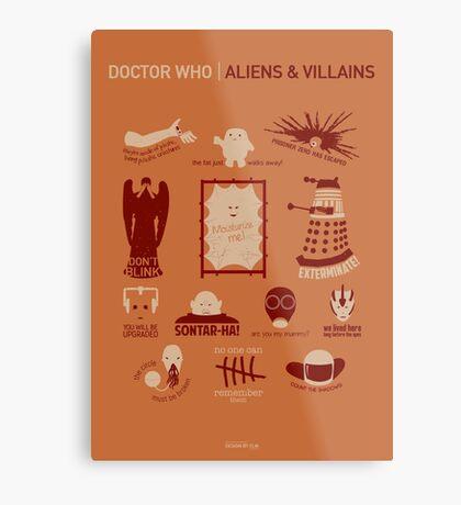 Doctor Who  Aliens & Villains (alternate version) Metal Print