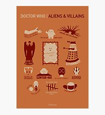 Doctor Who | Aliens & Villains (alternate version) Photographic Print