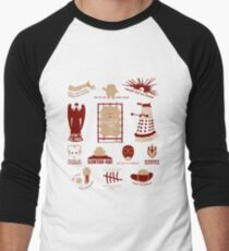 Doctor Who | Aliens & Villains (alternate version) Men's Baseball ¾ T-Shirt