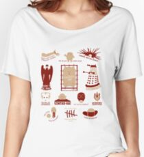 Doctor Who | Aliens & Villains (alternate version) Women's Relaxed Fit T-Shirt