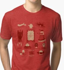 Doctor Who |Aliens & Villains (alternate version) Tri-blend T-Shirt