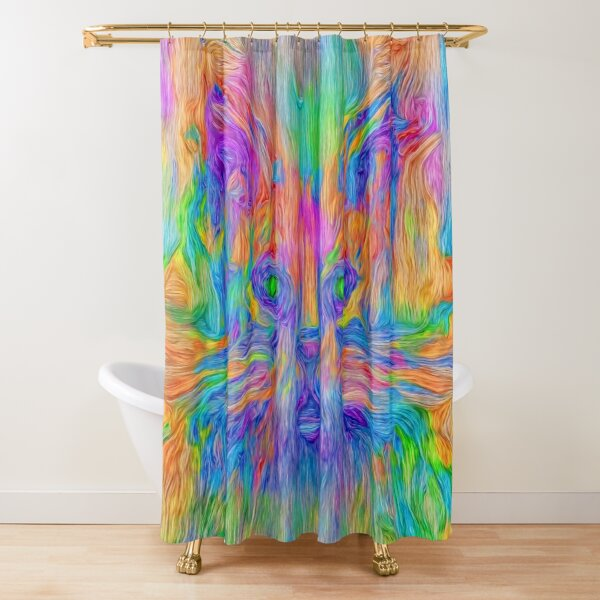Abstractions of abstract abstraction Shower Curtain