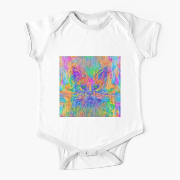 Abstractions of abstract abstraction Short Sleeve Baby One-Piece