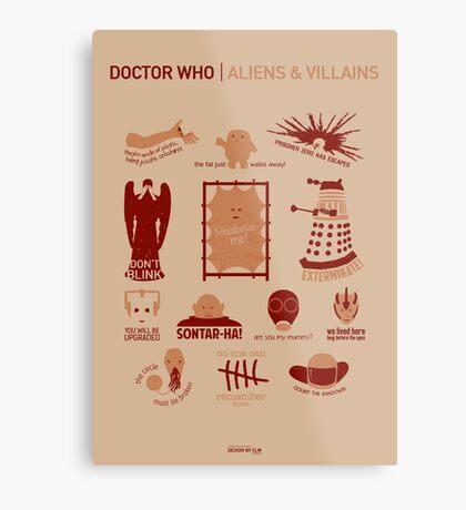 Doctor Who   Aliens & Villains Metal Print