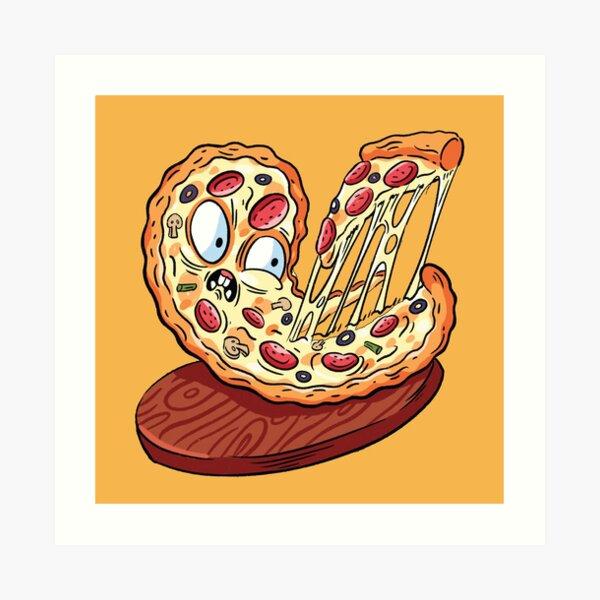 Pizza emoji slice   fast food art Art Print