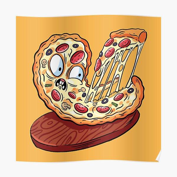 Pizza emoji slice   fast food art Poster