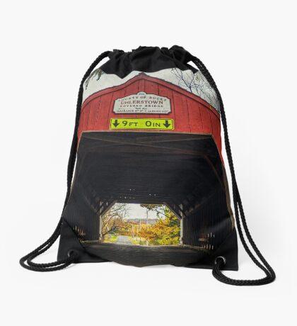 Uhlerstown Covered Bridge IV Drawstring Bag