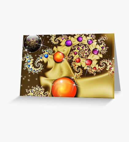 Swirling Golden Orbs Greeting Card