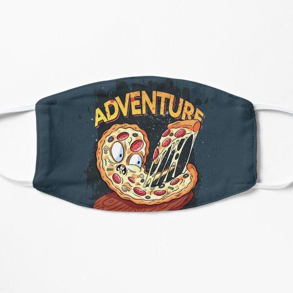 Adventure then pizza   emoji slice   fast food art Mask